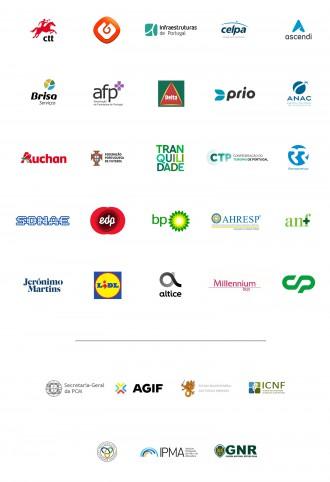 <p>Empresas que se juntaram à AGIF na divulgação da Campanha</p>