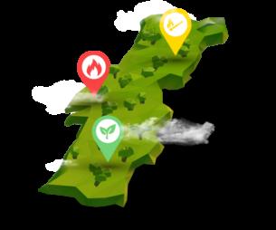 Mapa de limpeza de freguesias prioritárias