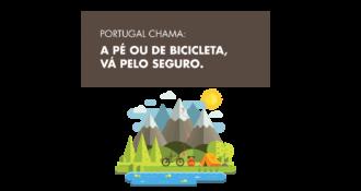 """<p><strong>Guia de conduta (para turistas)</strong>– """"A pé ou de bicicleta, vá pelo seguro.""""</p>"""